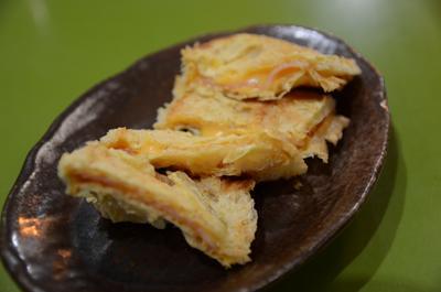 [画像がありません]油揚げチーズベーコン焼き