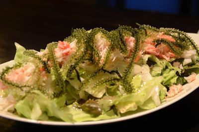 [画像がありません]ずわいがにと海ぶどうサラダ