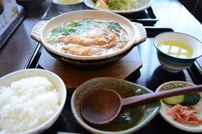 [画像がありません]天ぷら玉子入りみそ煮込みうどん定食