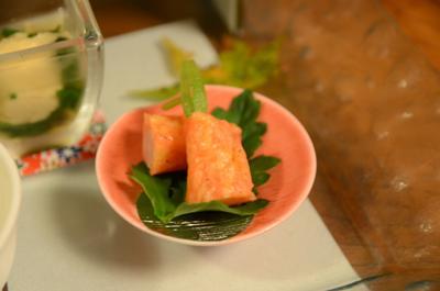 [画像がありません]ミニ大根とサーモンチーズ