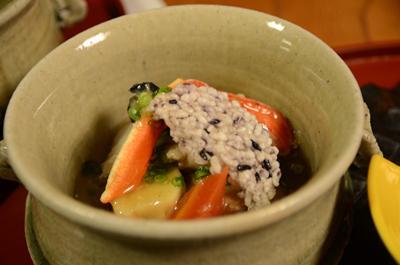 [画像がありません]鰤 牡蠣 ずわい蟹・・葱胡麻餡掛け