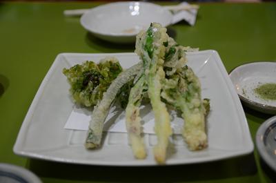 [画像がありません]春野菜の天ぷら