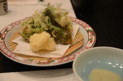 [画像がありません]山菜の天ぷら