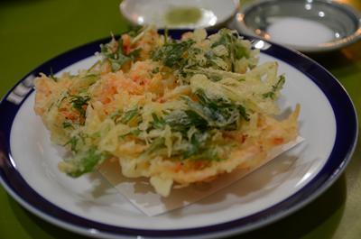 [画像がありません]さくらえび水菜のかき揚げ