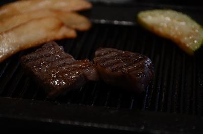 [画像がありません]飛騨牛ステーキ定食のステーキ其の二
