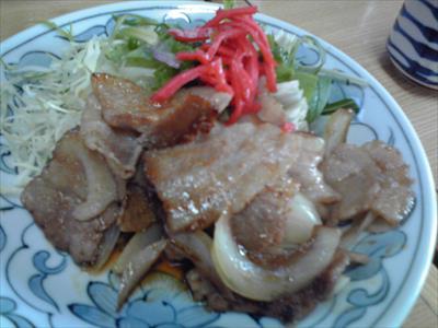 [画像がありません]生姜焼き定食